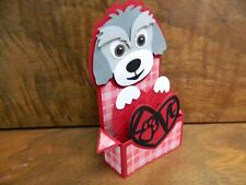 Handmade Card w/ Envelope Pop up box card  Dog / Puppy Love  PERSONALIZE