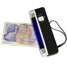 Rilevatore di Banconote False Finte Banca Note Controllo PORTATILE UV CASH TESTER Torcia