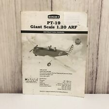 Hangar 9 PT-19 Giant Scale ARF 1.20 Instruction Manual Only