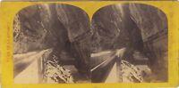 Suisse A.Gabler Entrée Da La Reggiseno Foto Stereo Vintage Albumina Ca 1865