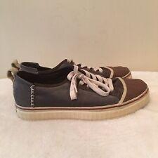Sorel Grey Brown Canvas Cap Toe Lace Up Fashion Sneaker Shoes Men's 9 Low Top