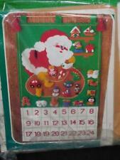 Vintage Bucilla Santa's Toy Bag Christmas Advent Calendar Felt Applique Kit