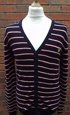 Mens Lyle & Scott Striped Cardigan Size Medium Pit to Pit 20''