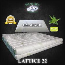 Materasso Lattice SINGOLO 80x190 h22 + 1 guanciale + Coprimaterasso OMAGGIO!