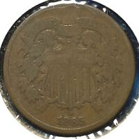 1865 2C Two Cent Piece (60705)