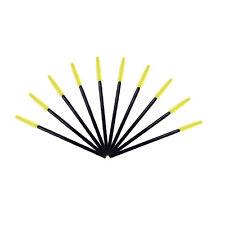 10pcs Silicone Head Disposable Mascara Eyelash Brushes Extention 3c Yellow
