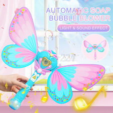 Automatic Soap Bubble Blowing Gun Bubble Blower Toy Light Music Effect