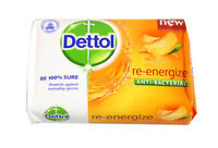 5 BARS ! Dettol Anti-Bacterial Soap Re-Energize 100g. USA Seller (F/S) !!