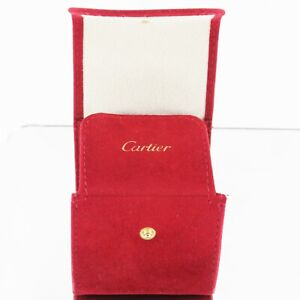 Cartier Box Carries Watches Jewelry IN Velvet Red with Logo Original
