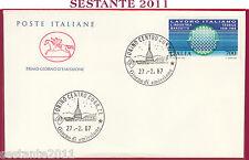 ITALIA FDC CAVALLINO LAVORO ITALIANO INDUSTRIA MARZOTTO 1987 ANNULLO TORINO Z719