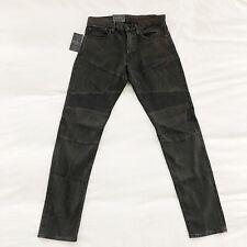 NWT Polo Ralph Lauren Moto Biker Jeans Eldridge Skinny Stretch Brown 31X32 $198