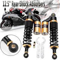 """2x 320mm 12.5"""" Rear Air Shock Absorbers Suspensior Motorcycle ATV Pit Dirt Bike"""