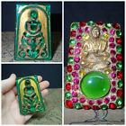 Vintage Somdej Ajarn Toh Inlay Somdet Amulet Nice Buddha Gems Naga Eye green