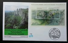 Germany National Park 1998 Mountain River Forest Tree (miniature FDC)