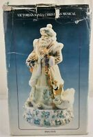 Victorian Old World Santa Music Box Figurine Plays White Christmas