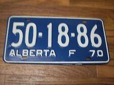 1970 MINT Alberta Wild Rose Country Farm License Plate 50-18-86