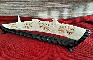 CHINESE CARVING BEAUTIFUL GENUINE 40.5cm long HOLLOW