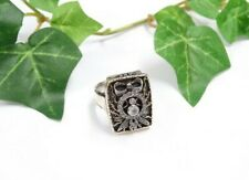 Gold 585 GG+Si Ring - Jugendstil um 1900/30  mit Diamantrosen - Apotheker Ring ?