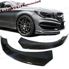 For 2013+ C117 W117 CLA45 CLA250 AMG Bumper Carbon Fiber Front Spoiler Two Lips