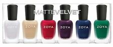 ZOYA MATTE VELVET 6-pc Nail Polish Set # 814-819 Aspen Sue Amal Iris Yves Honor