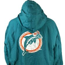 Miami Dolphins Starter Jacket NFL Pro Line XL Coat Full Zip Teal Vintage 90s