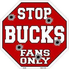 NBA Basketball Milwaukee Bucks Metal Stop Sign Man Cave Garage Shop Barn BS-258