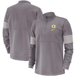 Nike Oregon Ducks Pullover 1/4 Zip Coaches 2019 Gray Men's 3XL NWT $85 Therma