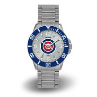 Rico Chicago Cubs MLB Key Watch with Stainless Steel Band