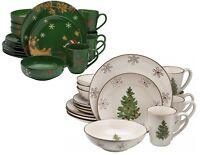 Ceramic Classic & Modern Dinnerware Set Dinner Plates Bowls Mugs Christmas Theme