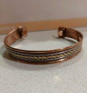 Copper Bangle Magnetic Bracelet #06 Small Magnets India.