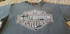 HARLEY DAVIDSON VINTAGE 2 SIDED SHOP SHIRT KILLER SOFT DISTRESSED LARGE BIKER