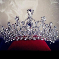 Wedding Bridal Crystal Rhinestone Hair Headband Crown Tiara Prom Pageant Co