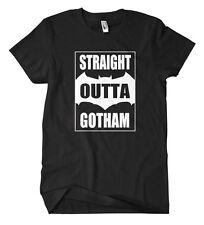 Straight Outta Gotham T-Shirt Comic Fun Jocker Dark Knight Begins Bale Ledger
