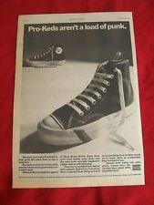 Pro Keds Royal Hi Top anuncio de prensa Vintage Original 1978 Ramones patineta Punk