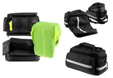 New Bicycle Cycle Pannier Saddle Rear Rack Travel Bag with Rain Cover Expandable
