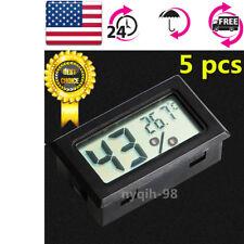 5 pcs Mini Digital LCD Indoor Temperature Humidity Meter Thermometer Hygrometer