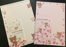 Rilakkuma Hearts Letter Set - Cute Korean Stationery - Kawaii writing paper
