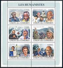 Comoro Islands - 2009 s/s of 6 Humanists #1045 cv $ 12.50 Lot # 53