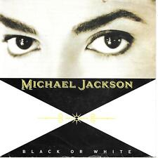 "Michael Jackson Black Or White + Black Or White (Instrumental) UK 45 7"" sgl"
