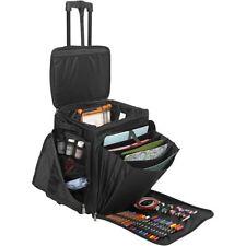 Professional Trolley Bag Scrapbooking Business Storage Cards Pens Storage Black