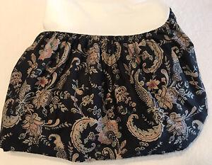 Ralph Lauren Vintage Alexandra Charcoal Twin Bed Skirt Rare Black Floral