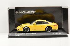 PORSCHE 911 CARRERA GTS 2011 YELLOW MINICHAMPS 1/43 ÉTAT NEUF EN BOITE