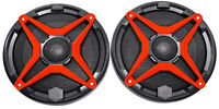 "SSV WP-A6 6.5"" Waterproof Speakers+Red Grilles for Polaris RZR/ATV/UTV/Jeep"