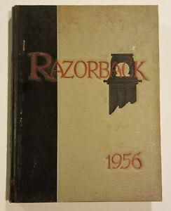 UNIVERSITY OF ARKANSAS 1956 YEARBOOK ANNUAL RAZORBACKS HOGS!