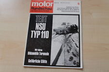 77467) NSU Typ 110 TEST - Oldsmobile Toronado Fahrbericht - Motor Rundschau 05/1