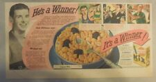 """Kix Cereal Ad: """"Taft HS Chicago IL"""" from 1930's-1940's 7.5 x 15 inches"""