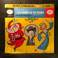 """I Saw Mommy Do The Mambo/Santa Claus Blues by Jimmy Boyd (Columbia J-225) 10"""" VG"""
