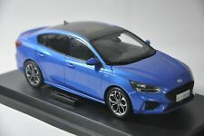 Ford Focus 2019 car model in scale 1:18 Blue