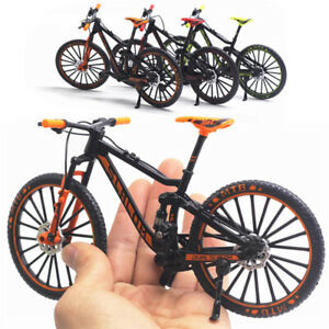 Mini 1:10 Bicycle Model Diecast Metal Finger Mountain Bike Racing Collection Toy