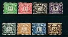 GB 1936 Postage Due SG D19-D26 MNH